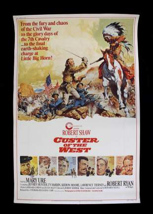 Original 'Custer of the West' Movie Poster 1967