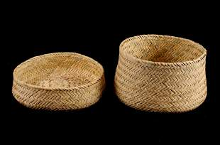 Tarahumana Tightly Hand Woven Basket Pair