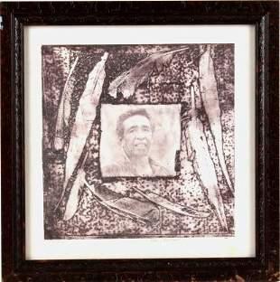 Kevin Red Star L.L. Lunde Portrait Framed Etching