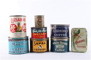 Early 1900's Coffee Tin Collection