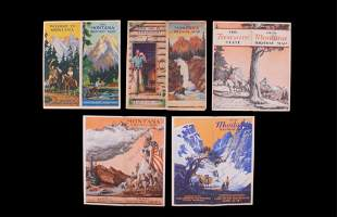 Montana State Highway Maps Circa 1930