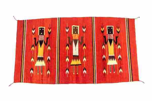 Yei Wool Rug by Master Weaver Cesar Hipolito