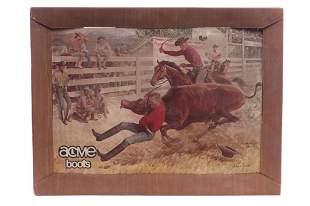 Western Acme Boots Cardboard Frame by John Clymer