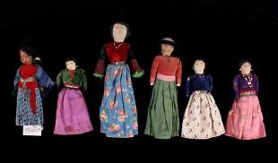 Navajo Female Doll Collection c. 1940's