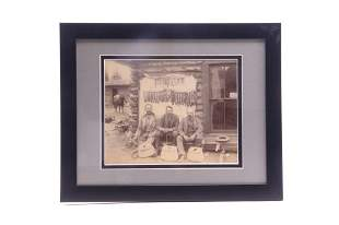 Framed Photograph of Montana Fisherman