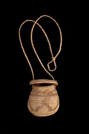 Papago Indians Hand Woven Lidded Trinket Box