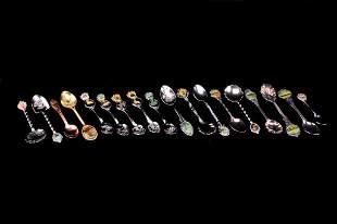 Souvenir Spoon Collection of Eighteen