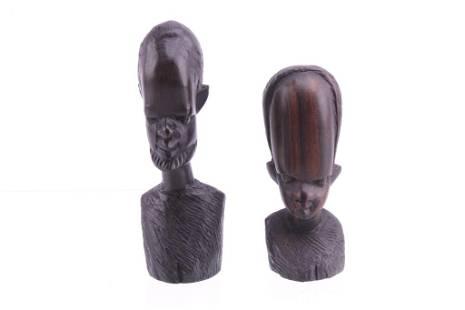 Central African Mangbetu African Walnut Male Busts