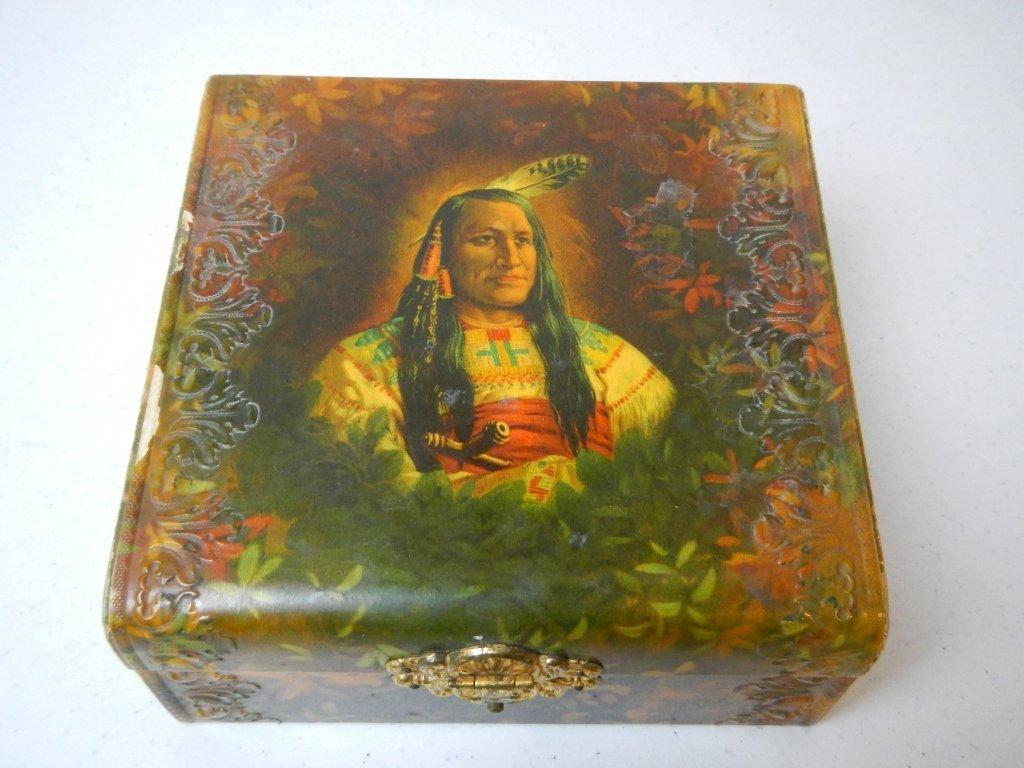 4: Indian Chief Cigar/Jewlery Box