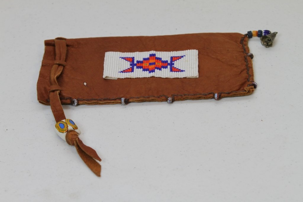17: Hand Made Beaded Native American Pouch