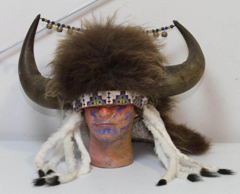 138: Sioux Indian Buffalo Headdress