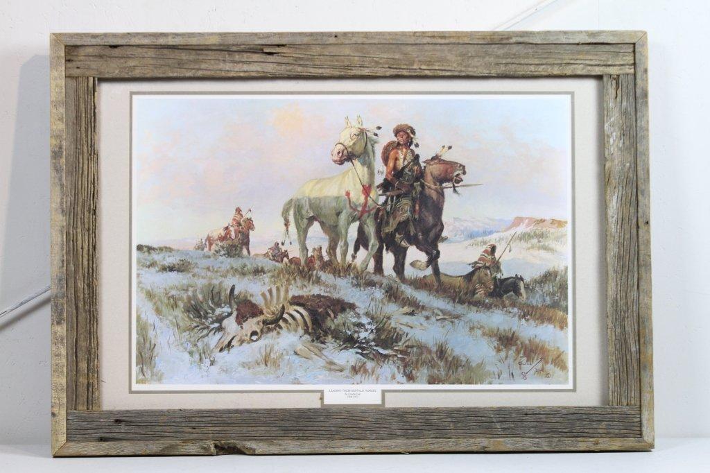 "192: ""Leading Their Buffalo Horses"" by Charlie Dye"