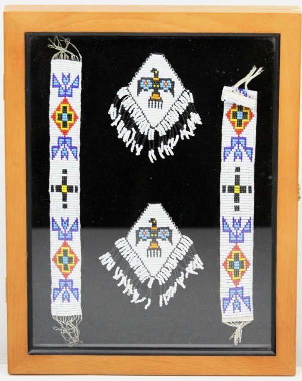 Crow Beadwork in Shadow Box