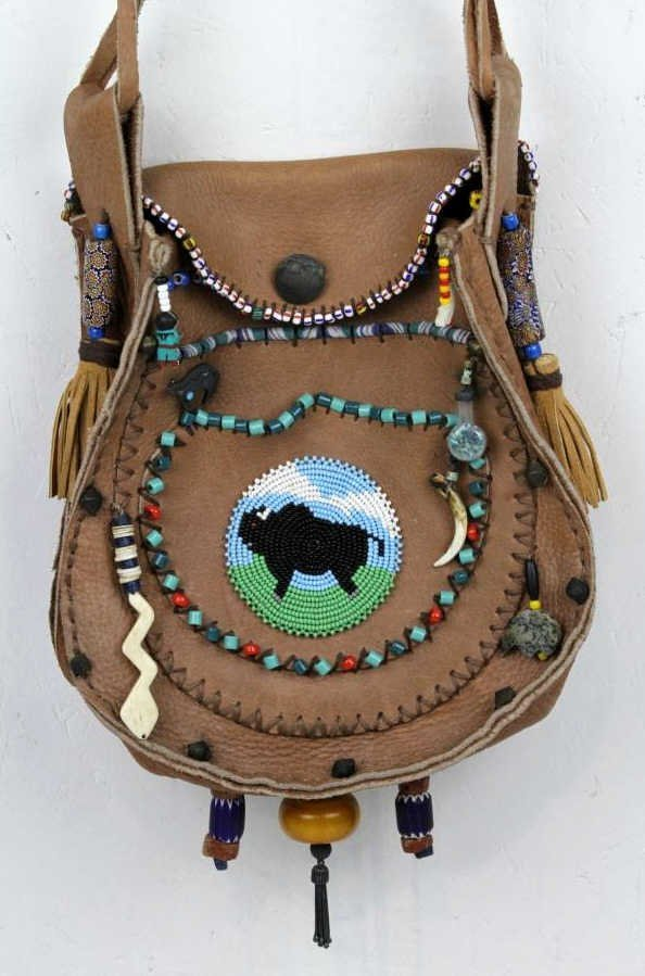 Native American Leather Bag
