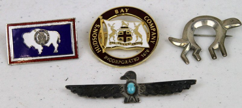 Navajo, Hudson Bay, and Wyoming Pins