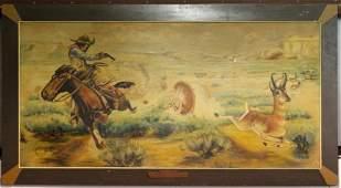 1936 Original Western Art by C.J. Smith