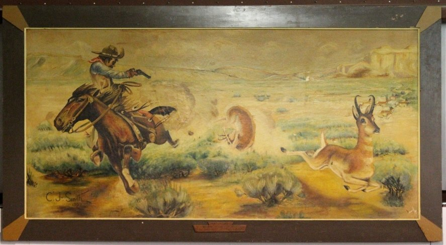 1936 Original Western Art by C.J. Smith