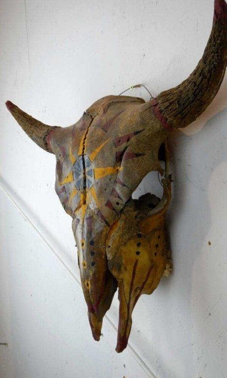 Sioux Painted Buffalo Skull - 3