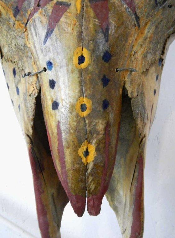 Sioux Painted Buffalo Skull - 6