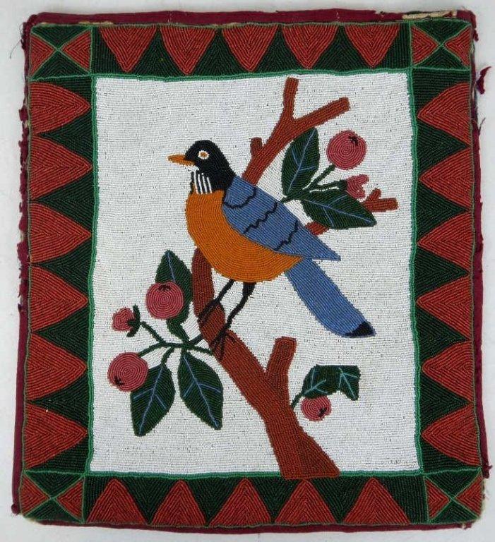 1890-1900 Nez Perce Robin Flat Bag