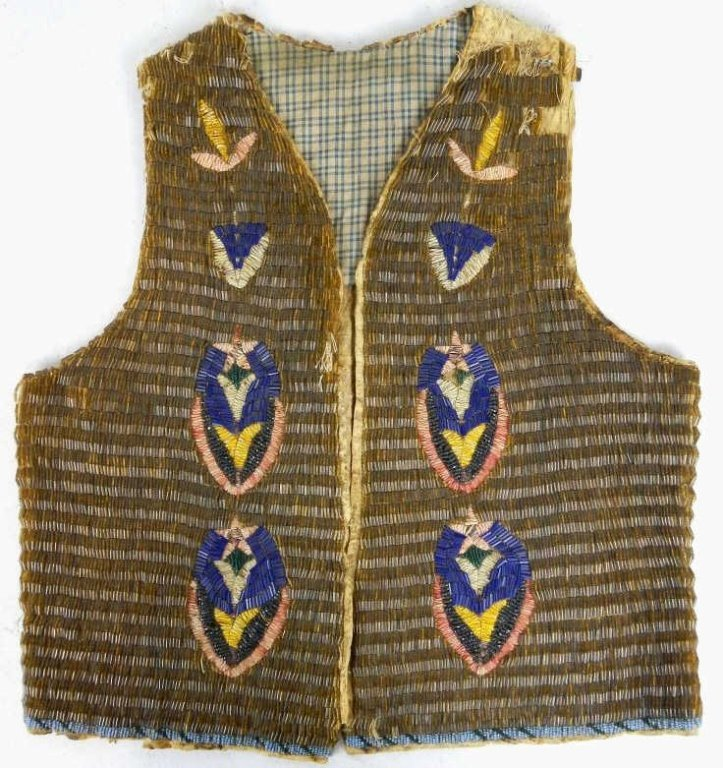 1850 Blackfoot Beaded and Quill Work Vest