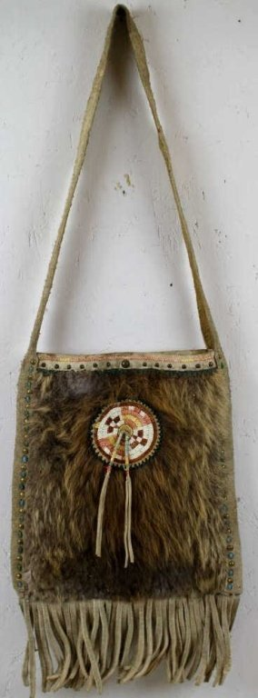 Nez Perce Quill Work Beaver Bag 1800's