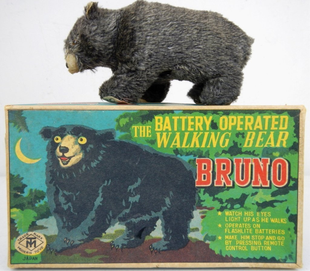 Bruno The Battery Operated Walking Bear 1950's