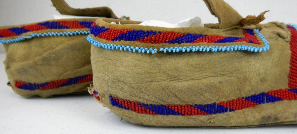 Blackfoot Moccasins 1800's - 2