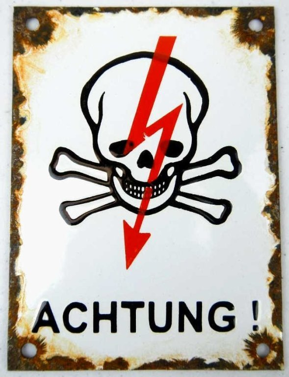 German Porcelain Enamel Sign pre-1950's