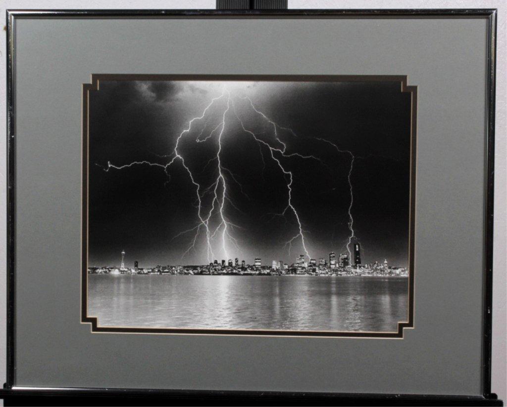 Lighting Strike Over Seattle Photograph