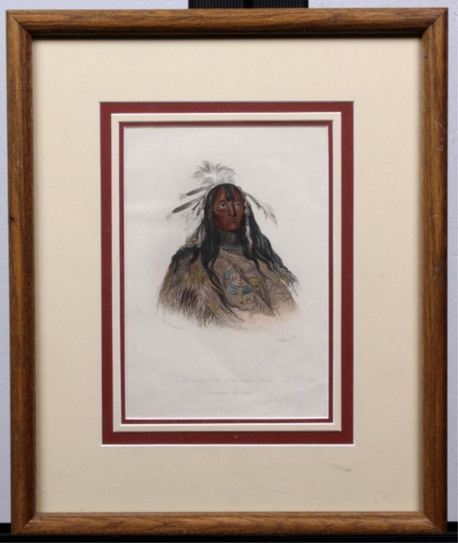 """Flathead Warrior"" by George Catlin (1796-1872)"