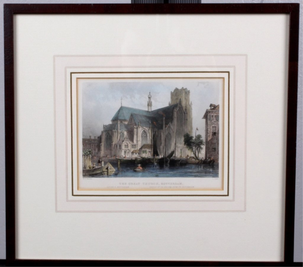 """The Great Church, Rotterdam"" W.H. Bartlett"