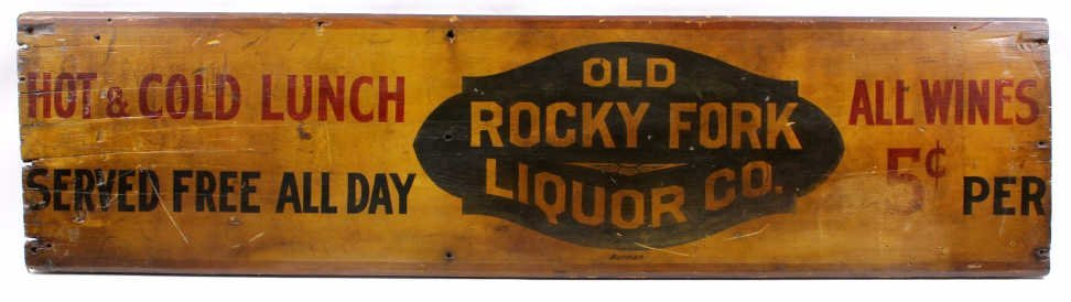 Old Rocky Fort Liquor Sign