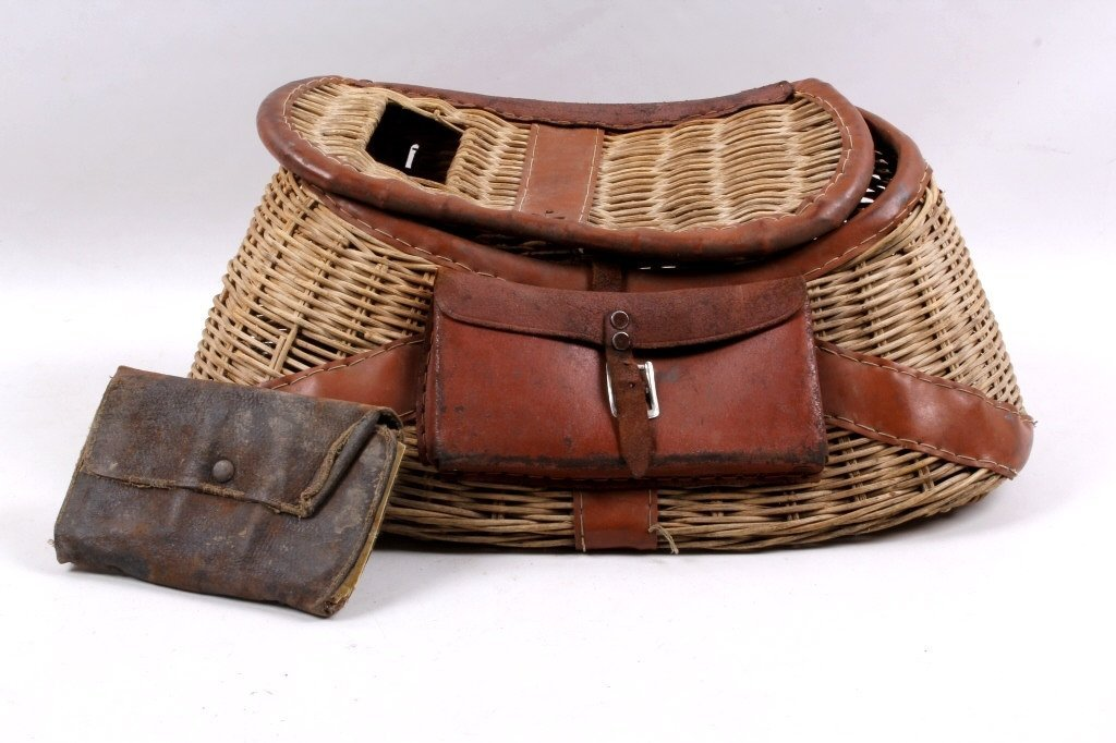 Antique Fishing Creel with Fly-Fishing Wallet - 2