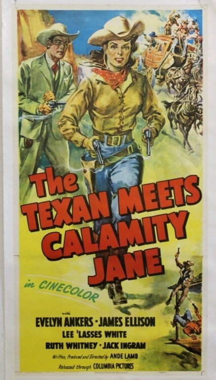"""The Texan Meets Calamity Jane"" 1950s Poster"