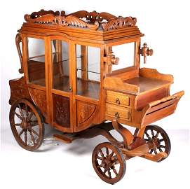 Antique Carriage Style Display Cabinet
