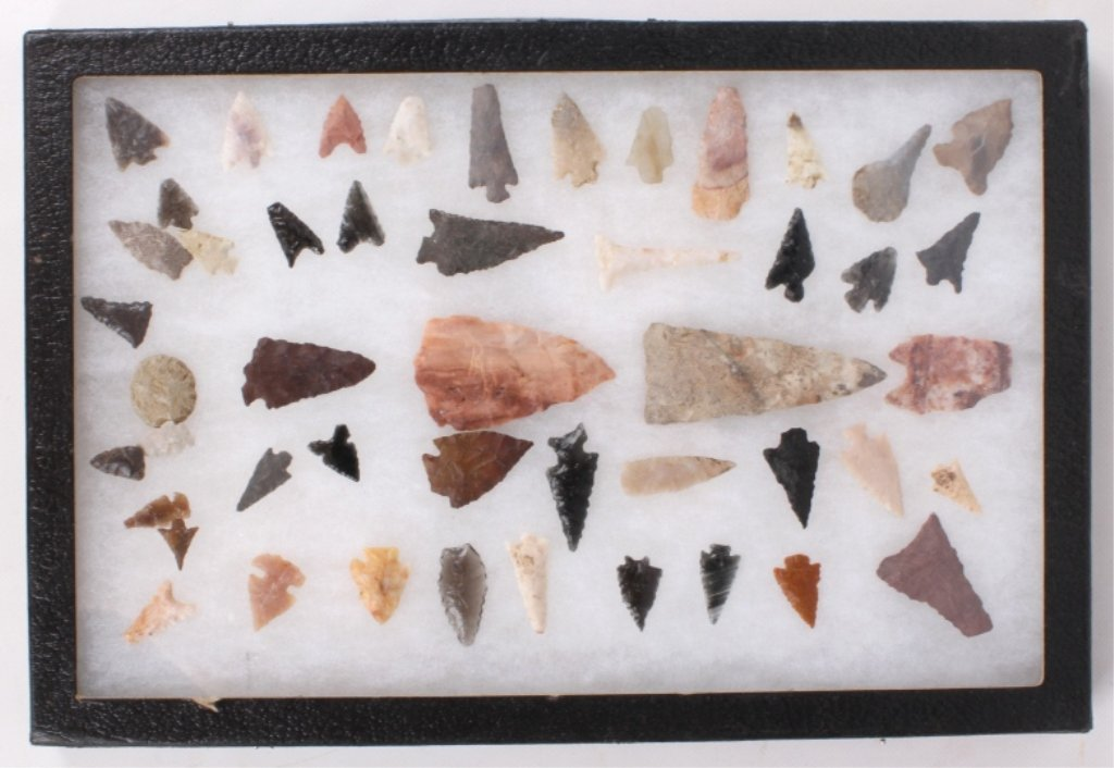 Western Native American Arrowhead Collection