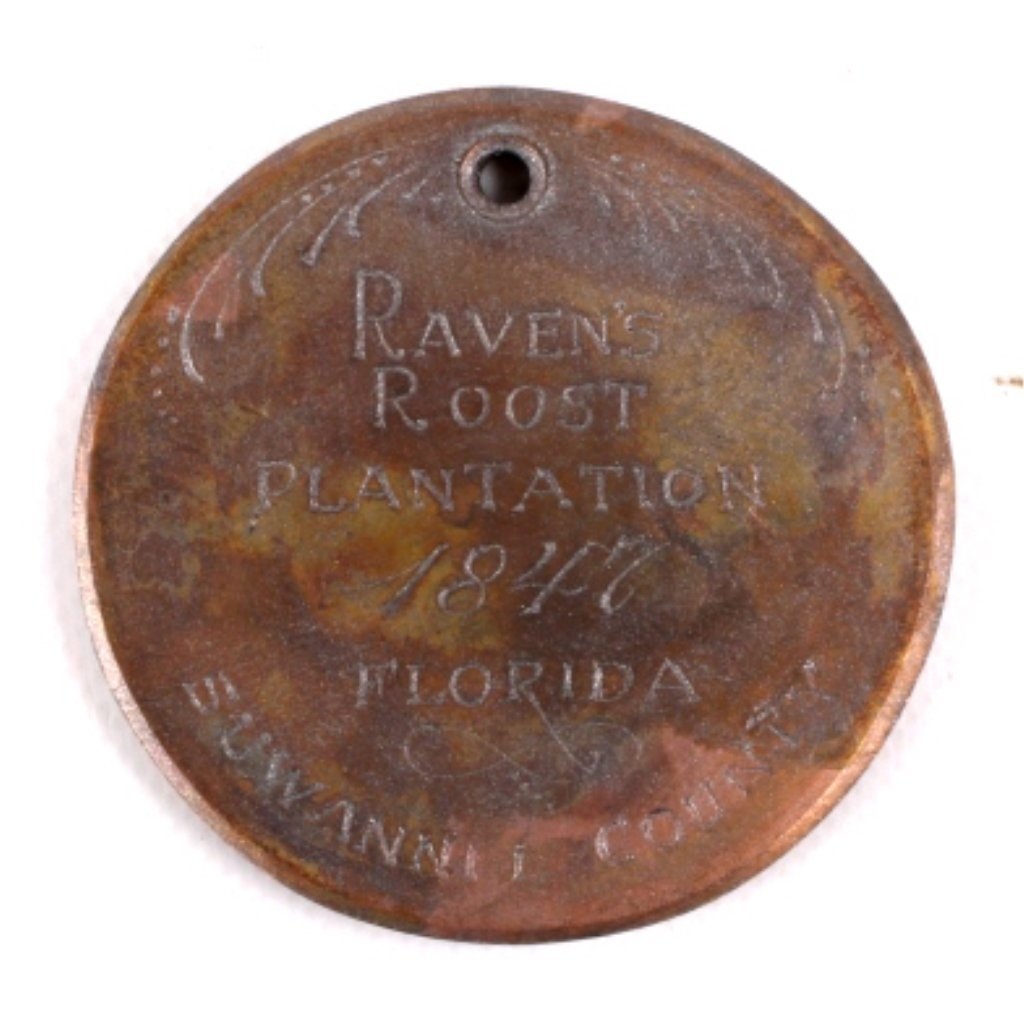 1847 Field Workers Slave Tag from Florida