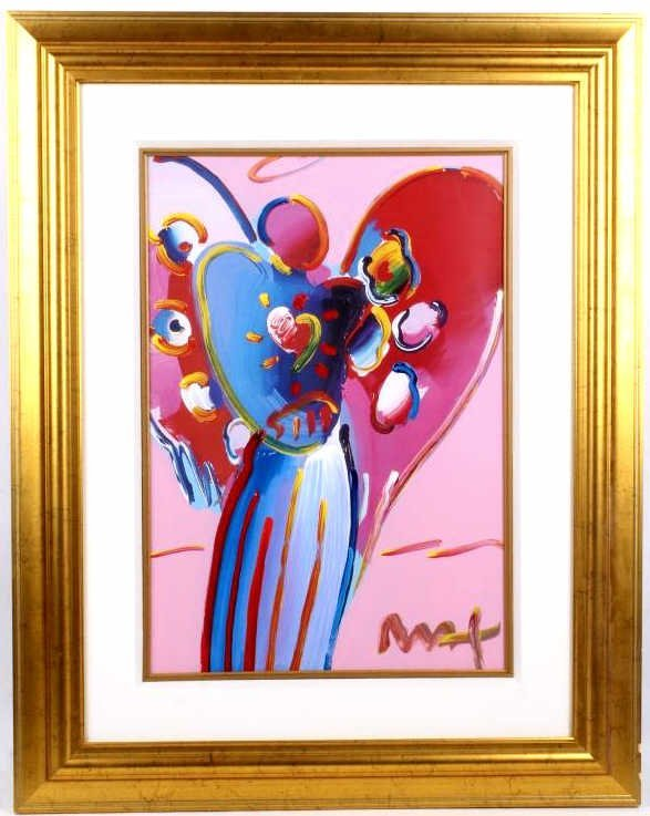 """Angel with Heart"" Peter Max Mixed Media"