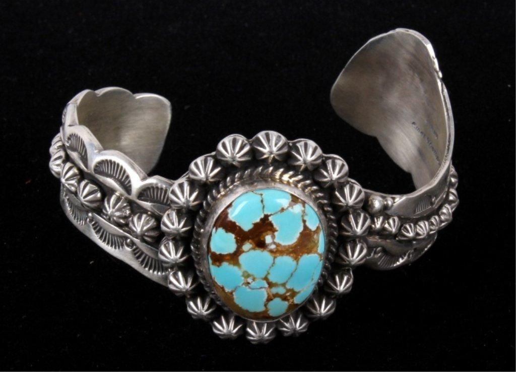 Navajo Emer Thompson Sterling & Turquoise Bracelet