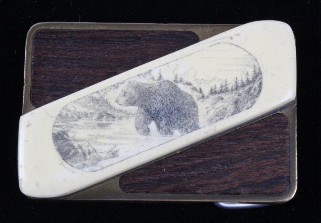 1960's Gerber Touche Engraved Belt Buckle Knife