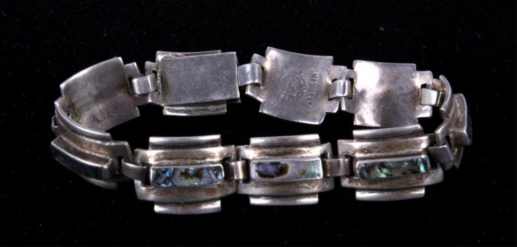 Navajo Sterling & Abalone Bracelet