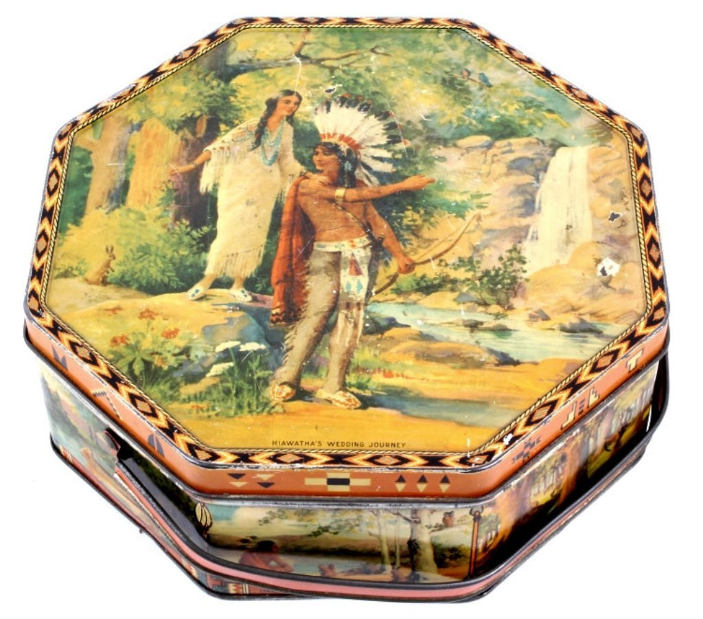 Hiawatha's Wedding Journey Loose-Wiles Biscuit Tin