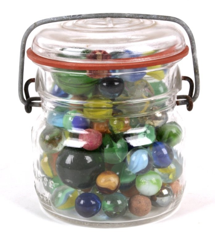 Antique Jar of Marbles