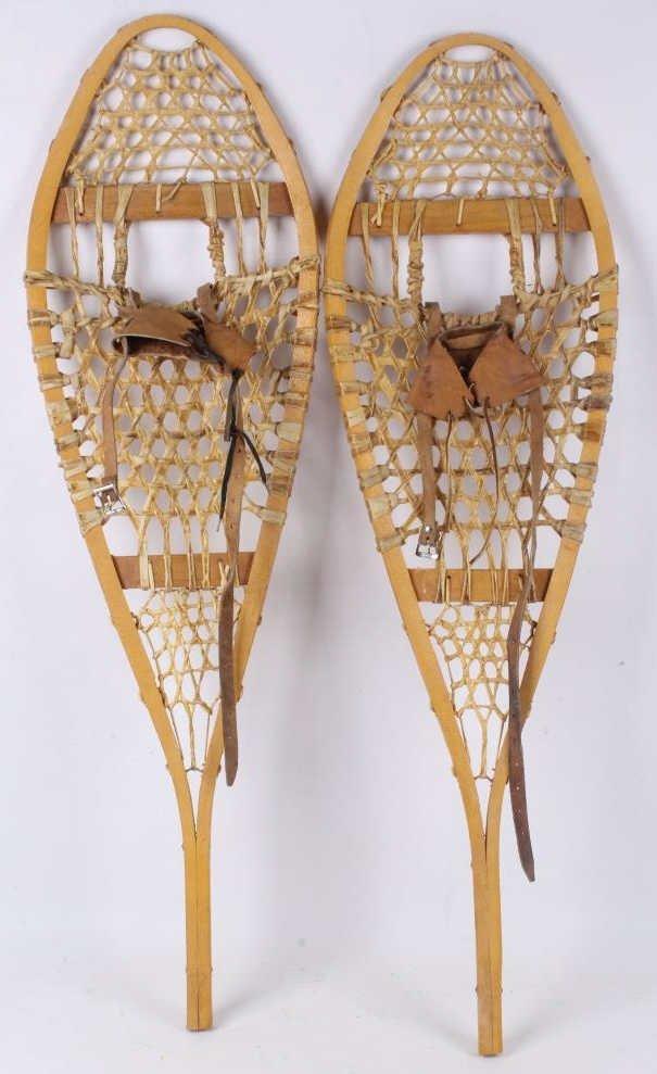 Antique Rawhide Snow Shoes