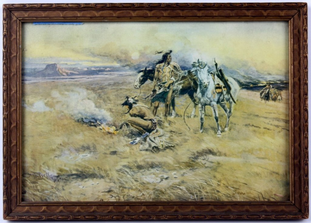 1910-1915 Russell Print from Billings, Montana