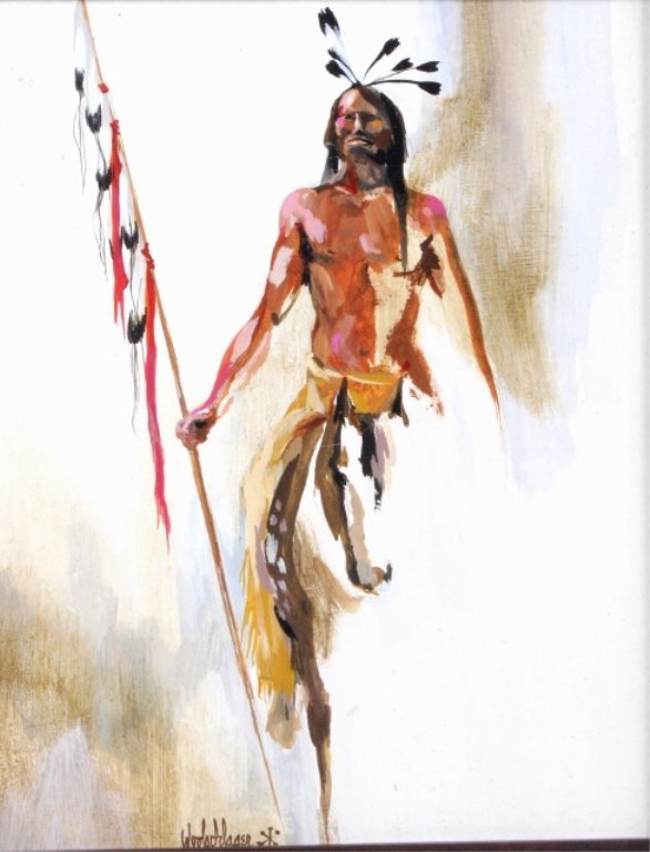 Native American Warrior by Laura T. Woolschlager