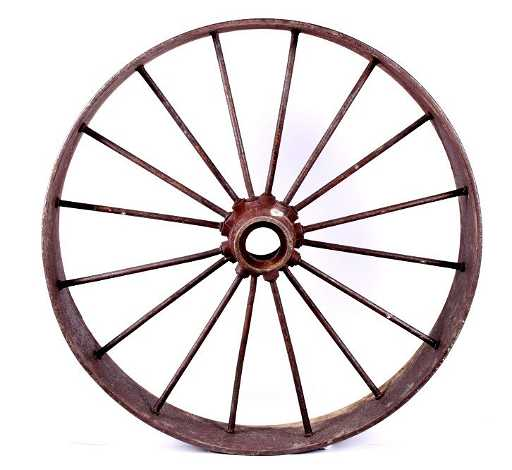 Iron Tractor Wheels : Antique iron tractor wheel