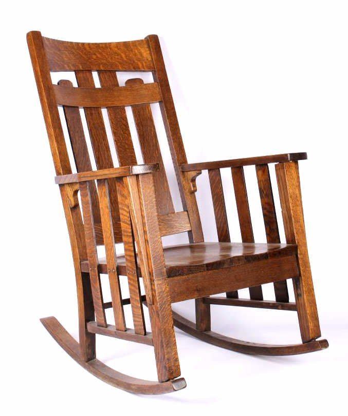 Phoenix Chair Co Mission Style Oak Rocker