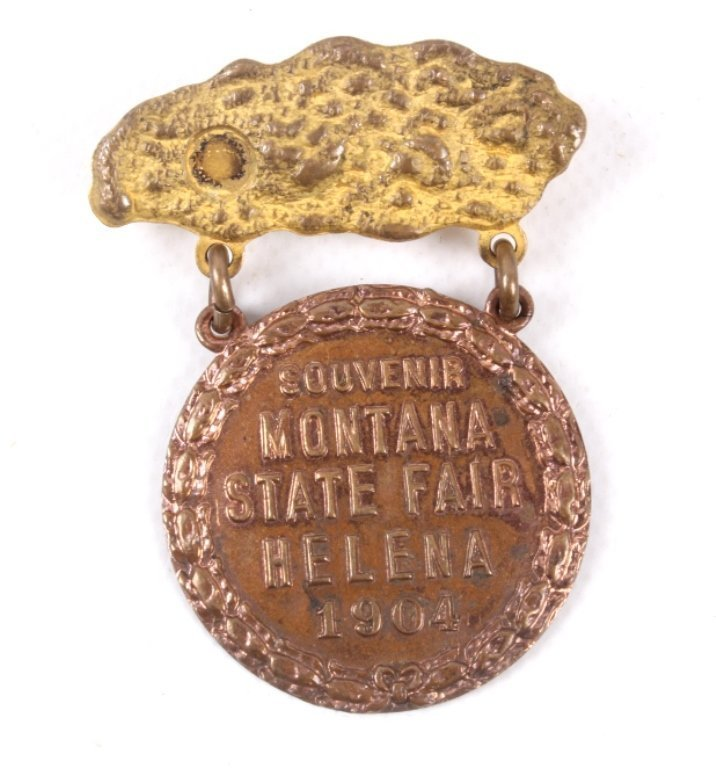 1904 Montana State Fair Helena Badge This is a tru